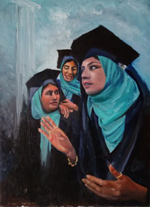 Girls' graduation ceremony in Afganistan